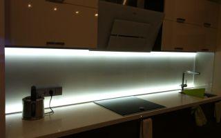 Светодиодная лента 12в на кухне, фото подсветки