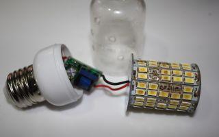 Пример выгорания светодиодов