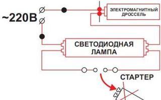 Лампы т8: светодиодные и люминесцентные, размеры и схема подключения
