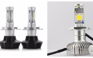 Обзор светодиодных ламп h4 ближнего дальнего света
