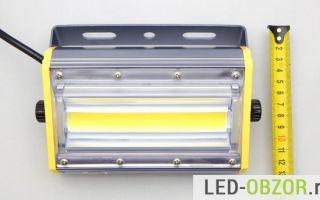 Тестируем уличный светодиодный прожектор на 40w