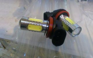 Разборка светотодиодной лампы h11