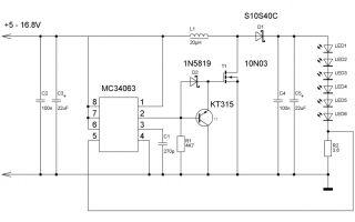Стабилизатор тока для светодиодов, схемы