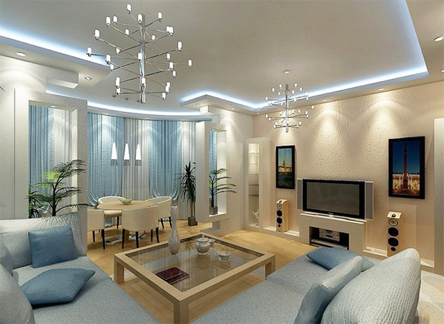 Современная люстра в гостинную: советы по выбору (фото)