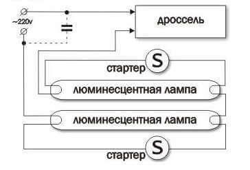 Лампа люминесцентная 18 вт: характеристики, длина, схема подключения