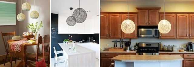 Как сделать люстру на кухню своими руками