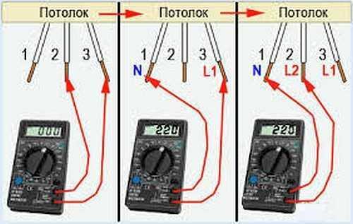 Как подключить люстру с 2, 3, 4 проводами (схемы)