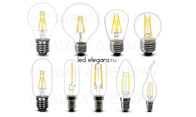 Филаментные лампы: характеристики, сравнение, преимущества