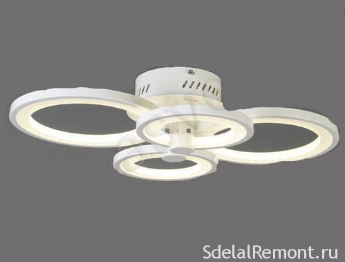 Люстра потолочная круглая светодиодная: обзор видов и моделей
