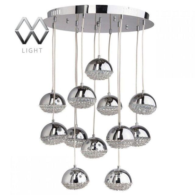 Каскадные люстры: из шариков, для высоких потолков