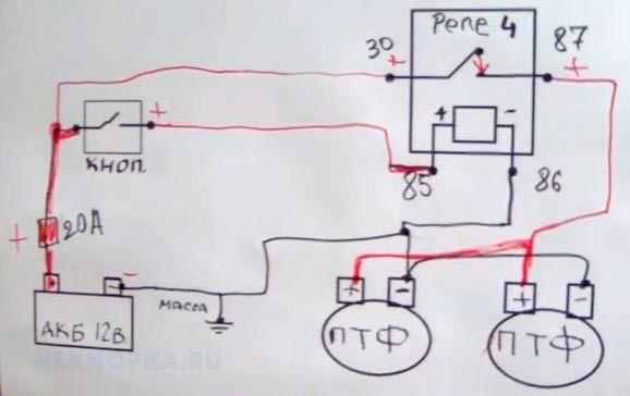 Противотуманные фары газель бизнес: установка, схема подключения