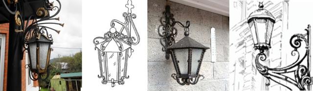 Кованые фонари своими руками: декоративные, для улицы, чертежи