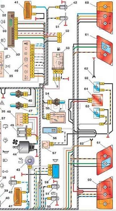 Задние фонари ваз 2114: схема подключения, какие лампочки стоят
