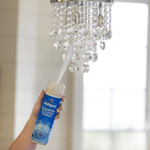 Как помыть хрустальную люстру: чем чистить, чтобы блестела